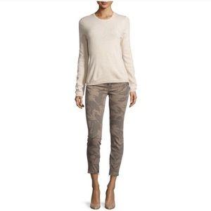 Current Elliott Silverlake Camo Zip Skinny Jean